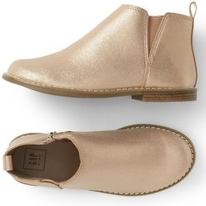 GAP Girls Metallic Chelsea Boots - Rose Gold